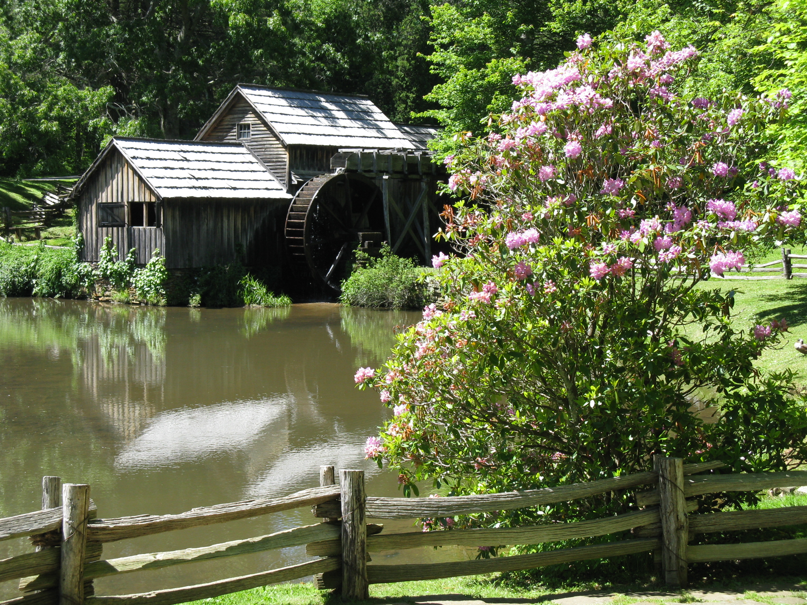Mabry Mill, VA in Spring